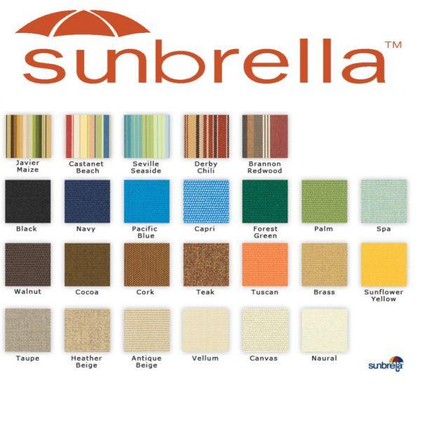 Sunbrella fabrics for outdoor
