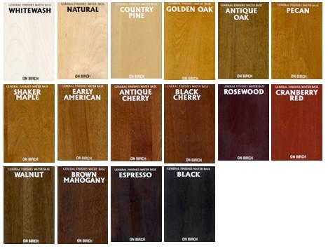 Color samples of furniture